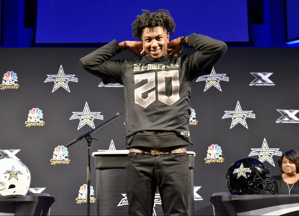 Fred Davis II (Jacksonville, Florida/Trinity Christian Academy), the No. 3 cornerback in the nation, was officially selected today as a 2020 All-American during a celebratory selection event at his school.
