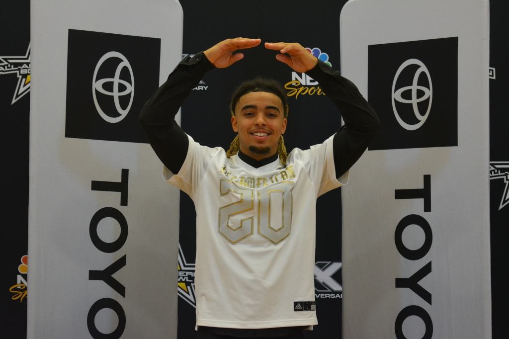 2020 All-American Bowl receiver Gee Scott Jr.