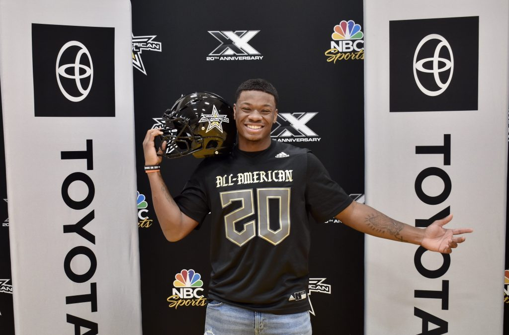 Desmond Tisdol (Rochelle, Georgia/ Wilcox County High School), the No. 8 inside linebacker in the nation, was officially selected today as a 2020 All-American during a celebratory selection event at his school.