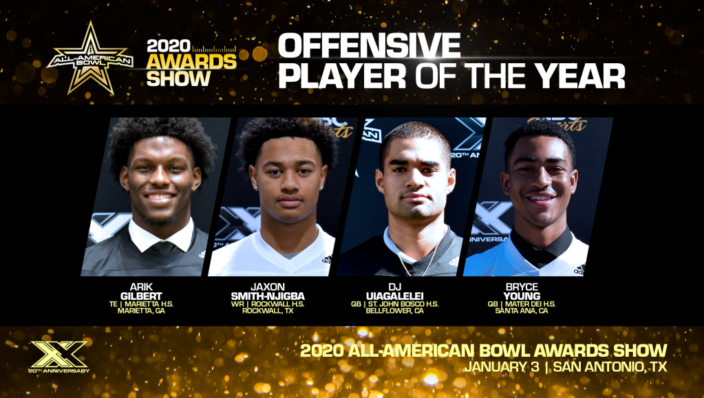 The All-American Bowl Selection Committee announced the finalists for the All-American Bowl Offensive Player of Year Award, given annually to the top offensive player in the country.