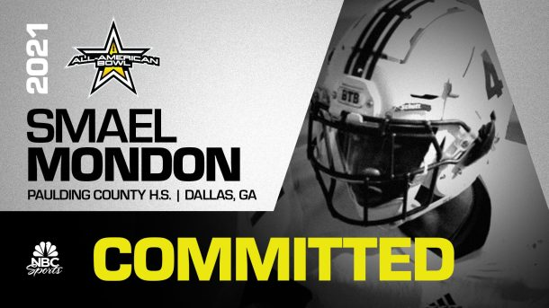 Smael Mondon (Dallas, GA/ Paulding County), four-star linebacker in the nation, has officially committed to the 2021 All-American Bowl.
