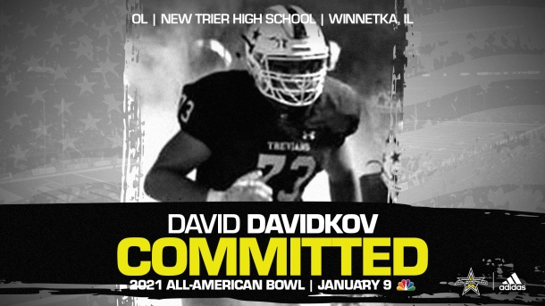 Four-star prospect David Davidkov from New Trier High School in Illinois has verbally committed to the Hawkeyes.