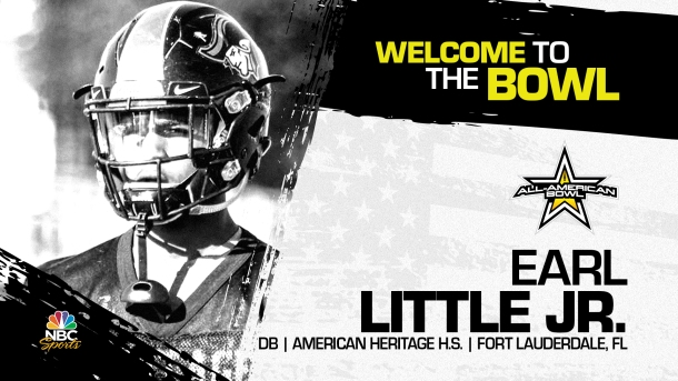 Earl Little Jr. (Fort Lauderdale, FL/ American Heritage High School), four-star prospect and top defensive backs in the nation, has officially committed to the 2022 All-American Bowl.