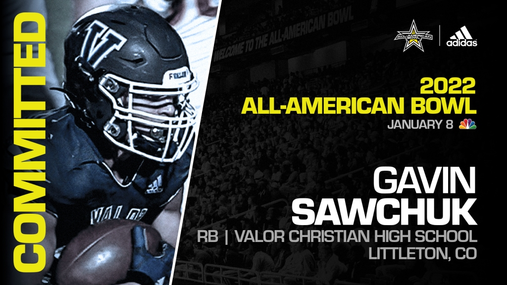 Gavin Sawchuk (Littleton, CO/ Valor Christian High School), four-star prospect and top overall recruit from the state of Colorado, has officially committed to the 2022 All-American Bowl.