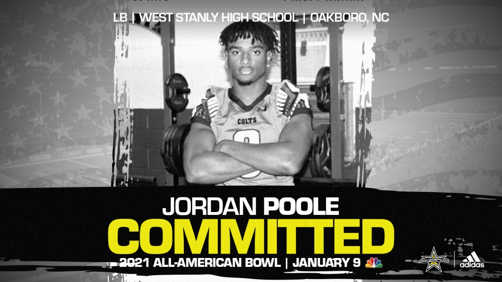 Jordan Poole (Oakboro, NC/ West Stanly High School), one of the fasting rising prospect in the nation, has officially committed to the 2021 All-American Bowl.