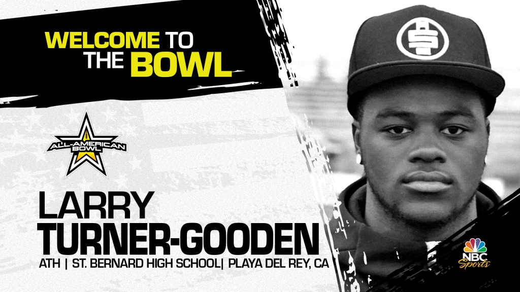 Larry Turner-Gooden (Playa Del Rey, CA/ St. Bernard High School), four-star prospect and top 50 prospect, has officially committed to the 2022 All-American Bowl.