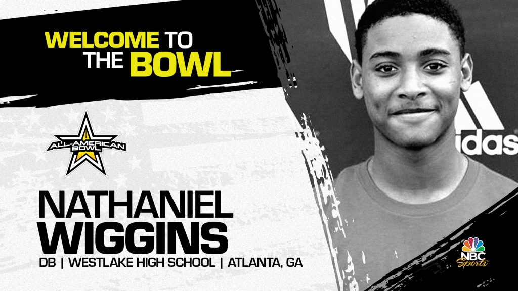 Nathaniel Wiggins (Atlanta, GA/ Westlake High School), the four-star prospect from the state of Georgia, has officially committed to the 2021 All-American Bowl.