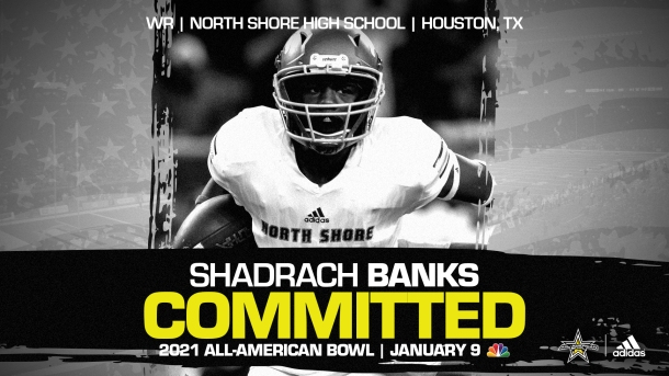 Shadrach Banks (Houston, TX/ North Shore High School), one of the fasting rising prospect in the nation, has officially committed to the 2021 All-American Bowl.