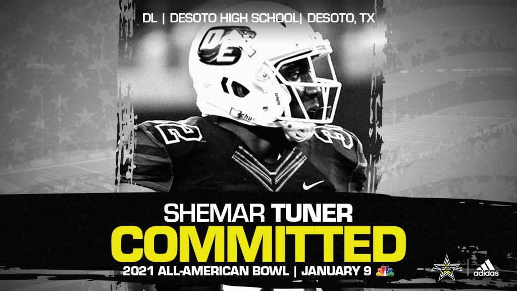 Shemar Turner (DeSoto, TX/ DeSoto High School), four-star defensive lineman and top overall prospects from the state of Texas, has officially committed to the 2021 All-American Bowl.