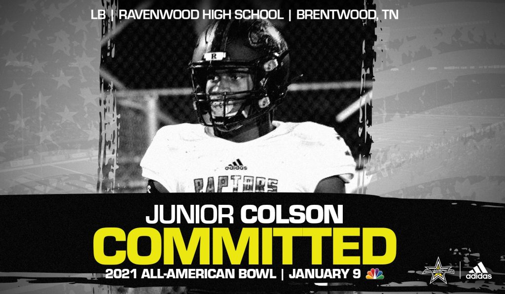University of Michigan commit Junior Colson has been selected to play in the twenty first edition of the All-American Bowl.