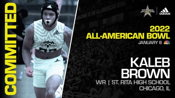 Kaleb Brown (Chicago, IL/ St. Rita High School), four-star prospect and one of the top athletes in the nation, has officially committed to the 2022 All-American Bowl.