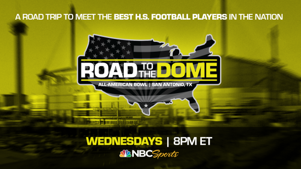 The 2021 All-American Bowl on NBC will kick off its Road to the Dome tour, honoring all 100 All-Americans with virtual jersey presentations, on Wednesday, September 16 at 8 p.m. ET.