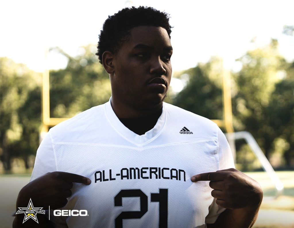 Offensive Lineman Armon Bethea (Brooklyn, New York/Erasmus Hall High School), the three-star prospect, was officially honored today as a 2021 All-American