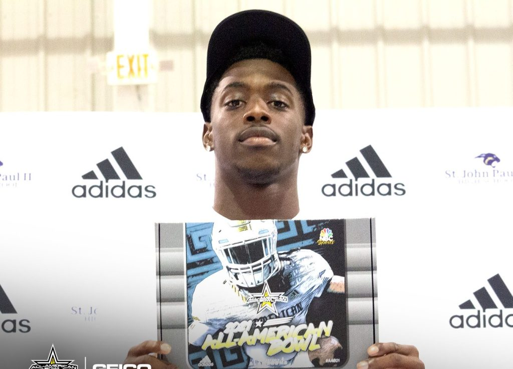 Safety Terrion Arnold (Tallahassee, Florida/John Paul II Catholic High School), the No. 2 safety in the nation, was officially honored today as a 2021 All-American