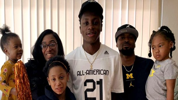 Wide Receiver Xavier Worthy (Fresno, California/Central East High School), the University of Michigan commit, was officially honored today as a 2021 All-American during a virtual jersey presentation as part of the first episode of the Road to the Dome digital series.