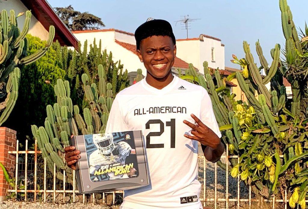 Defensive Back Isaiah Johnson (Playa Del Rey, California/St. Bernard High School), the Arizona State University commit, was officially honored today as a 2021 All-American.