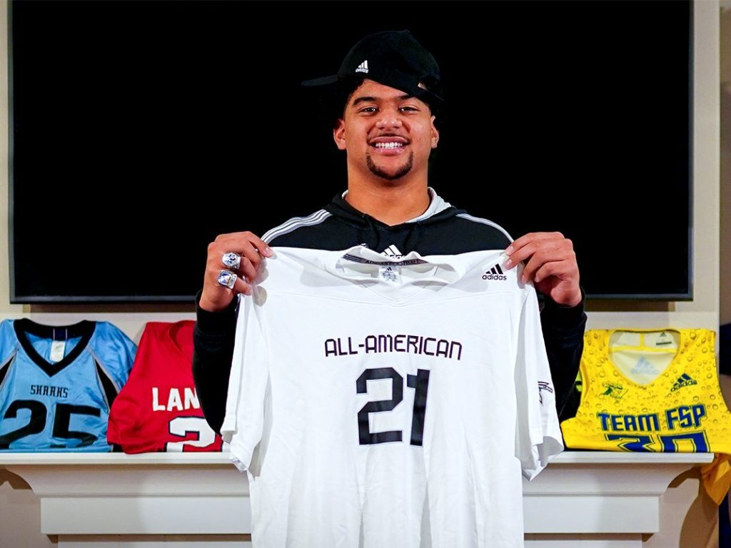 Defensive Lineman J.T. Tuimoloau (Sammamish, Washington/Eastside Catholic High School), the No.1 overall prospect from the state of Washington, was officially honored today as a 2021 All-American.