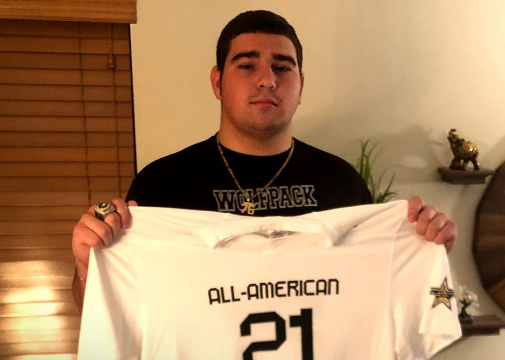 Offensive Lineman Ryan Rodriguez (Miami, Florida/Christopher Columbus High School), the University of Miami commit, was officially honored today as a 2021 All-American.