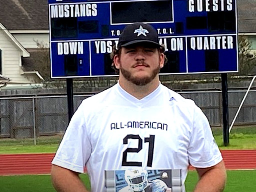 Offensive Lineman Bryce Foster (Katy, Texas/ James E. Taylor H.S.), the four-star prospect, was officially honored today as a 2021 All-American