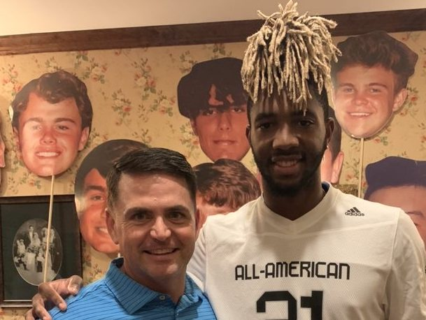Wide Receiver Deion Colzie (Athens, Georgia/ Athens Academy), the University of Notre Dame commit, was officially honored today as a 2021 All-American.