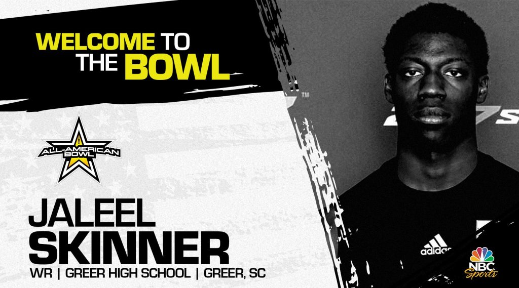 Jaleel Skinner (Greer, SC/ Greer High School), four-star prospect and one of the top athletes in the nation, has officially committed to the 2022 All-American Bowl.