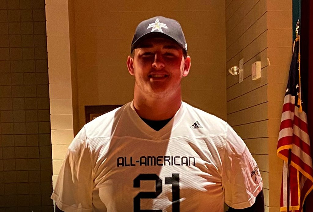 Offensive Lineman Wyatt Milum (Huntington, West Virginia/ Spring Valley H.S.), the West Virginia University commit, was officially honored today as a 2021 All-American.
