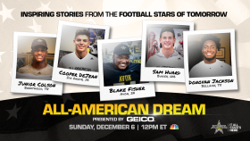 All-American Dream presented by GEICO, a one-hour special which shares the story of how a high school all-star game has become the most watched high school sporting event for 20 consecutive years.