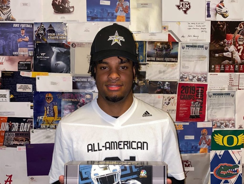 Wide Receiver Jalil Farooq (Upper Marlboro, Maryland/ Wise H.S.), the University of Oklahoma commit, was officially honored today as a 2021 All-American.