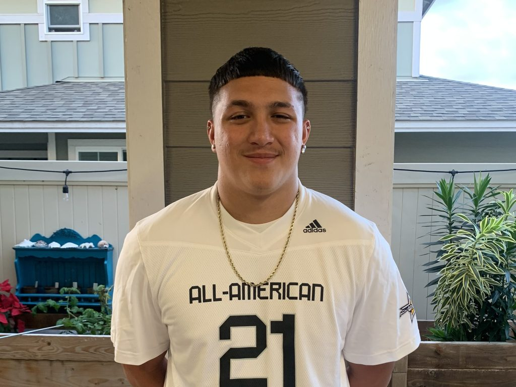 Linebacker Wynden Ho'ohuli (Mililani, Hawaii/ Mililani H.S.), the four-star prospect, was officially honored yesterday as a 2021 All-American.