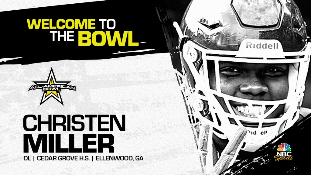 Christen Miller four-star prospect and one of the top pass rushers in the nation, has officially committed to the 2022 All-American Bowl.