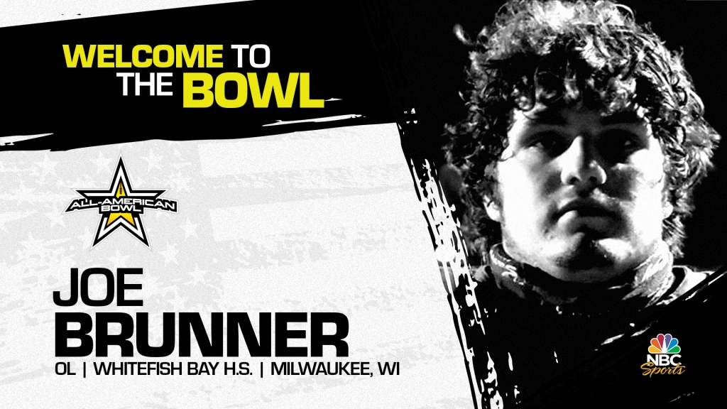 Joe Brunner (Milwaukee, WI/ Whitefish Bay High School), four-star prospect and one of the top offensive linemen in the nation, has officially committed to the 2022 All-American Bowl.