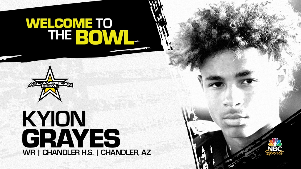 Kyion Grayes (Chandler, AZ/ Chandler High School), four-star prospect and one of the top wide receivers in the country, has officially committed to the 2022 All-American Bowl.