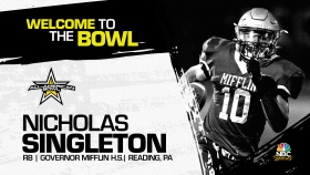 Nicholas Singleton (Reading, PA/ Governor Mifflin High School), four-star prospect and the No.3 prospect in Pennsylvania, has officially committed to the 2022 All-American Bowl.