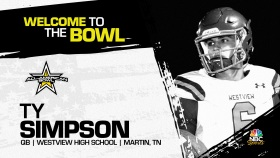 Ty Simpson (Martin, TN/ Westview High School), four-star quarterback and No.2 prospect in Tennessee, has officially committed to the 2022 All-American Bowl.