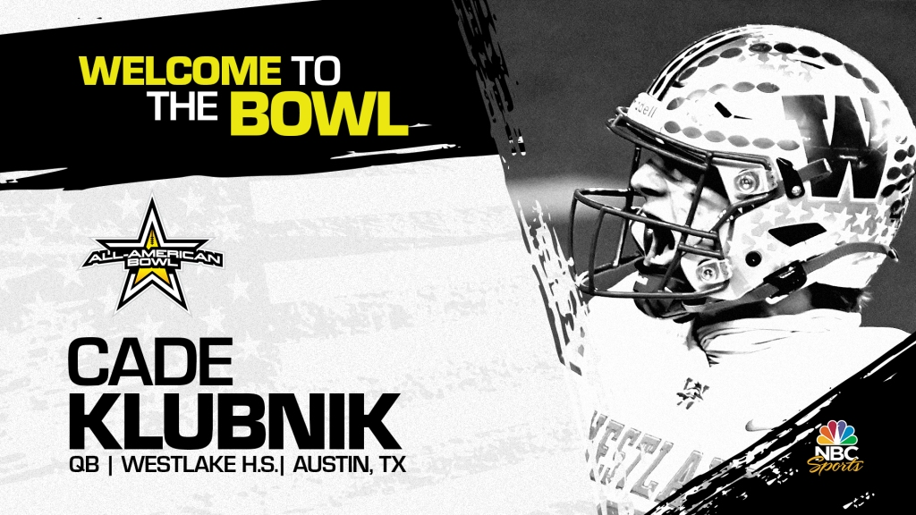 Cade Klubnik (Austin, TX/ Westlake High School), four-star quarterback and Clemson University commit, has officially committed to the 2022 All-American Bowl.