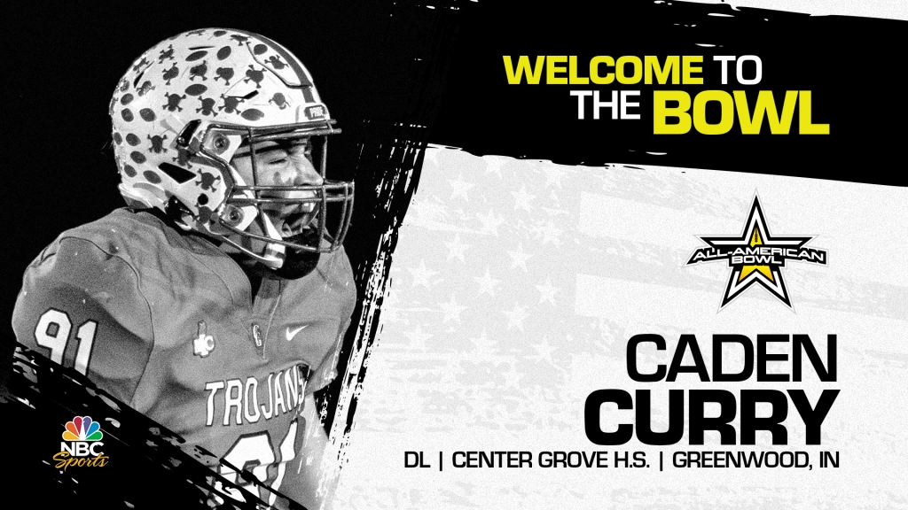 Caden Curry (Greenwood, IN/ Center Grove High School), four-star defensive lineman has officially committed to the 2022 All-American Bowl.