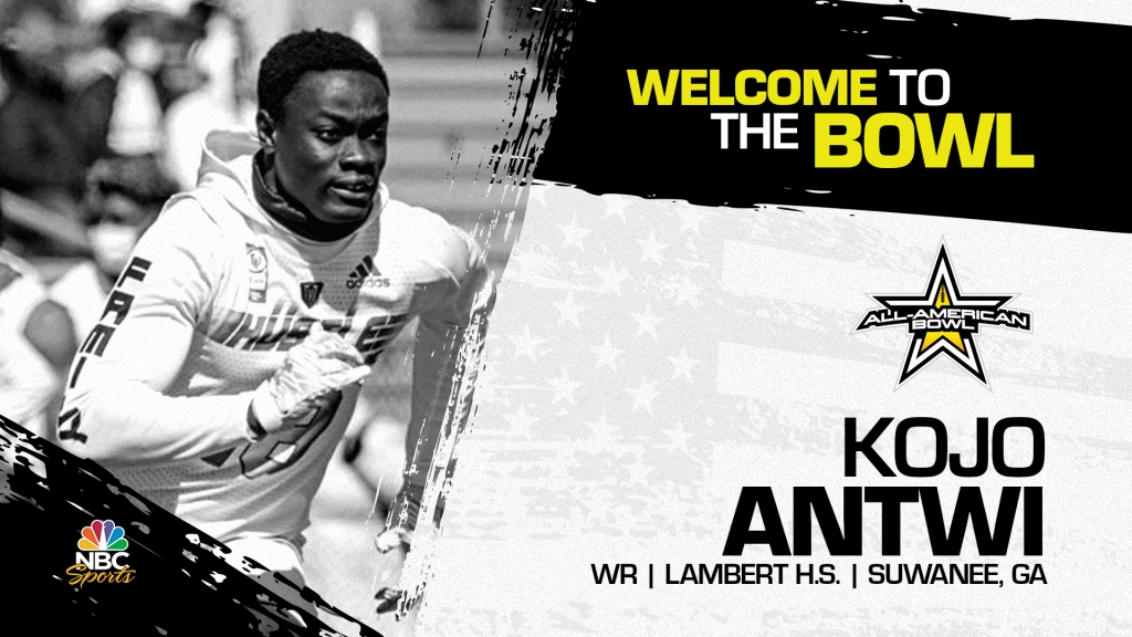 Kojo Antwi (Suwanee, GA/ Lambert High School), four-star wide receiver has officially committed to the 2022 All-American Bowl.
