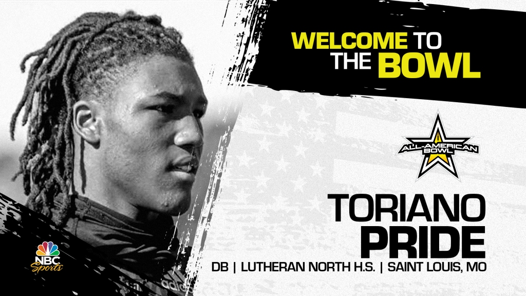 Toriano Pride (Saint Louis, MO/ Lutheran North High School), four-star defensive back and one of the top overall prospects from the state of Missouri has officially committed to the 2022 All-American Bowl.