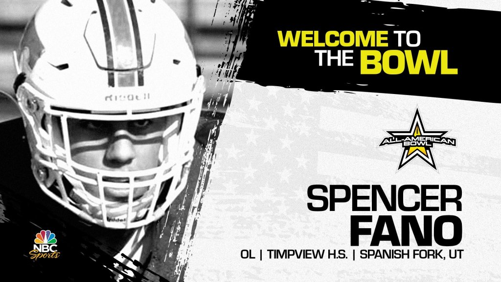 Spencer Fano (Spanish Fork, UT/ Timpview High School), four-star offensive lineman, has officially committed to the 2023 All-American Bowl.