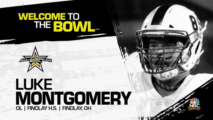 Luke Montgomery (Findlay, OH/ Findlay High School), four-star offensive lineman, has officially committed to the 2023 All-American Bowl.