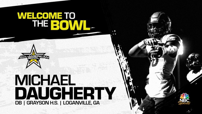 Michael Daugherty (Loganville, GA/ Grayson High School), four-star defensive back, has officially committed to the 2023 All-American Bowl.