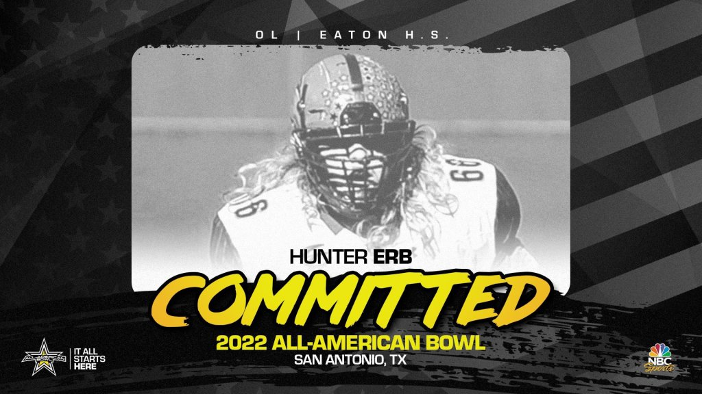 Hunter Erb (Haslet, TX/ Eaton High School), the Texas A&M University commit has officially committed to the 2022 All-American Bowl.