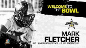 Mark Fletcher (Plantation, FL/ American Heritage High School), four-star running back, has officially committed to the 2023 All-American Bowl.