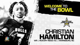Christian Hamilton (Harrisburg, NC/ Hickory Ridge High School), four-star wide receiver, has officially committed to the 2023 All-American Bowl.
