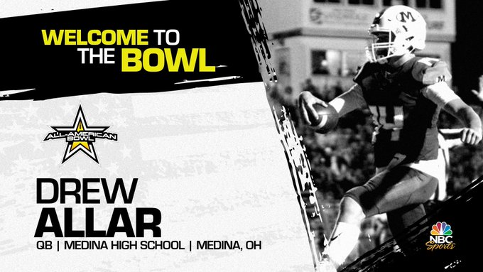 Quarterback Drew Allar (Medina, OH/ Medina High School), the Penn State University pledge has officially committed to the 2022 All-American Bowl.