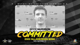 Punter Bryce McFerson (Indian Trail, NC/ Metrolina Christian Academy High School), the Wake Forest pledge has officially committed to the 2022 All-American Bowl.
