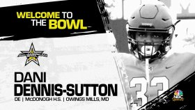 Dani Dennis-Sutton (Owings Mills, MD/ McDonogh High School), the four-star prospect has officially committed to the 2022 All-American Bowl.
