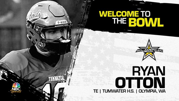 Ryan Otton (Olympia WA/ Tumwater High School), the four-star tight end has officially committed to the 2022 All-American Bowl.