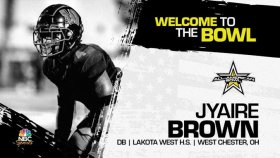 Defensive back Jyaire Brown (West Chester, OH/ Lake West High School), the four-star prospect has officially committed to the 2022 All-American Bowl.