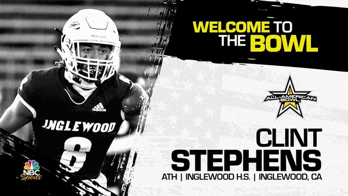 Athlete Clint Stephens (Inglewood, CA/ Inglewood High School), the four-star prospect has officially committed to the 2022 All-American Bowl.